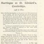 Cambridge St Edwards Marriages Page 1