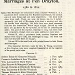 Fen Drayton Marriages Page 1