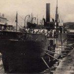 DEVON APPLEDORE RICHMOND DRY DOCK S.S. OF CARDIFF BEING REPAIRED 1906