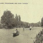 EEL PIE ISLAND.TWICKENHAM AND RIVER THAMES MIDDLESEX