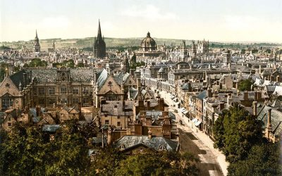 High Street Oxford England 1890s