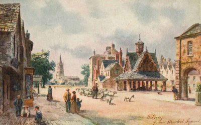Witney from Market Square 1903