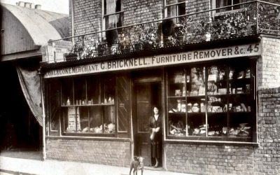 C 1910 G. BRICKNELL REMOVERS 45 CATHERINE ST. COWLEY ST JOHN