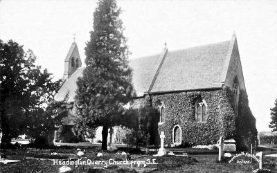 CIRCA 1912 RP POSTCARD HEADINGTON QUARRY CHURCH OXFORD