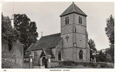 Mapledurham Church Oxfordshire c1955