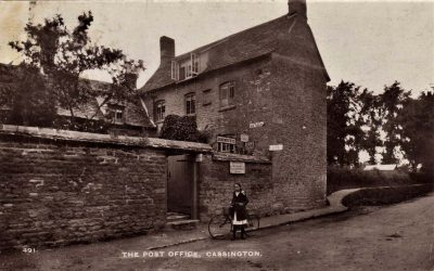 OXFORDSHIRE CASSINGTON THE POST OFFICE AND SHOP 1916