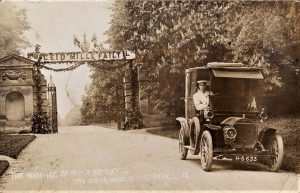 OXFORDSHIRE CHARLBURY MARRIAGE OF MISS WATNEY ENTRANCE TO PARK