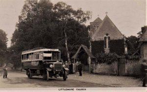 OXFORDSHIRE LITTLEMORE CHURCH AND VINTAGE BUS REG. DU 4313 RP 1925