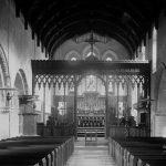 Clun church chancel and altar