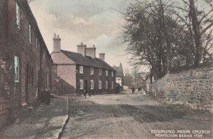 Edgmond from Church near Newport Shropshire village street scene