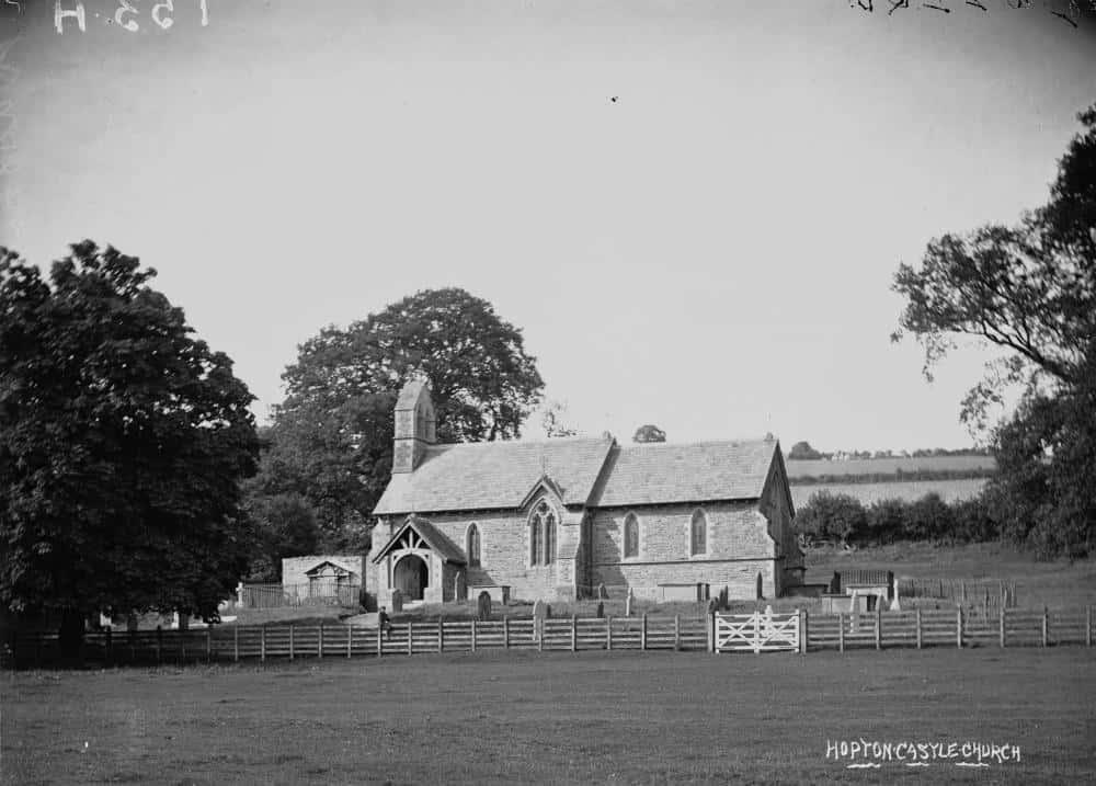 Hopton Castle church