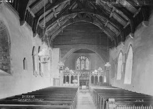 Interior Clunbury church