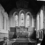 The chancel Clun church