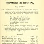 Batsford Marriages Page 1