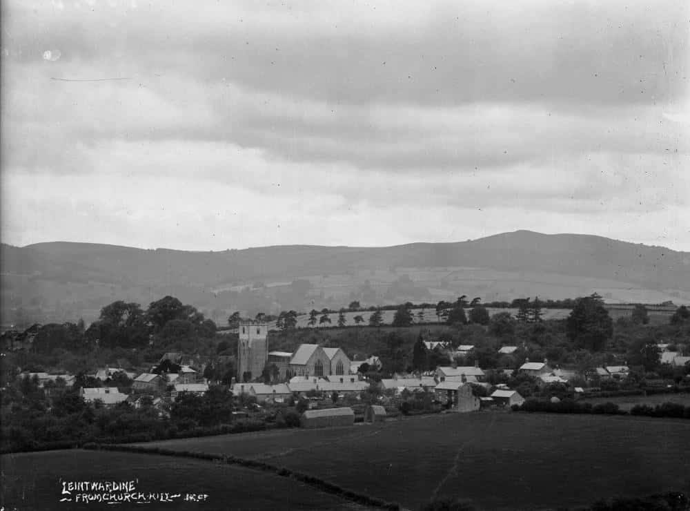 Leintwardine from Church Hill Early 1900s by Percy Benzie Abery
