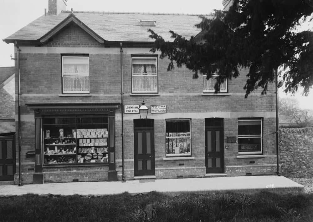 Leintwardine post office and veterinary surgery Early 1900s by Percy Benzie Abery